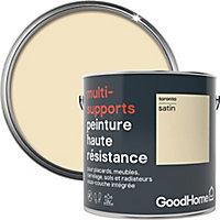 Peinture haute résistance multi-supports GoodHome blanc Toronto satin 2L