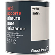 Peinture haute résistance multi-supports GoodHome blanc Valdez satin 0,75L