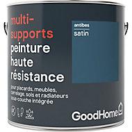 Peinture haute résistance multi-supports GoodHome bleu Antibes satin 2L
