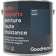 Peinture haute résistance multi-supports GoodHome bleu Vence satin 2L