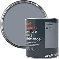 Peinture haute résistance multi-supports GoodHome gris Cincinnati satin 0,75L
