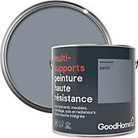 Peinture haute résistance multi-supports GoodHome gris Cincinnati satin 2L