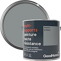 Peinture haute résistance multi-supports GoodHome gris Delaware brillant 2L