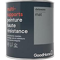 Peinture haute résistance multi-supports GoodHome gris Delaware mat 0,75L
