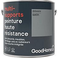 Peinture haute résistance multi-supports GoodHome gris Delaware satin 2L