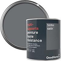 Peinture haute résistance multi-supports GoodHome gris Hamilton satin 0,75L