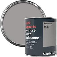 Peinture haute résistance multi-supports GoodHome gris Long Island mat 0,75L