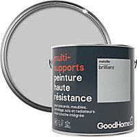 Peinture haute résistance multi-supports GoodHome gris Melville brillant 2L