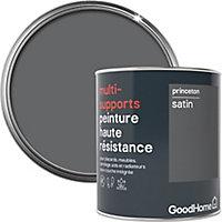Peinture haute résistance multi-supports GoodHome gris Princeton satin 0,75L