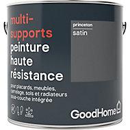 Peinture haute résistance multi-supports GoodHome gris Princeton satin 2L