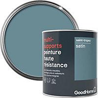 Peinture haute résistance multi-supports GoodHome gris St Tropez satin 0,75L
