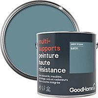 Peinture haute résistance multi-supports GoodHome gris St Tropez satin 2L