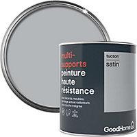 Peinture haute résistance multi-supports GoodHome gris Tucson satin 0,75L