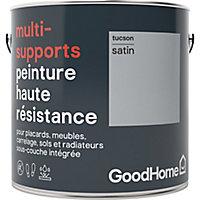 Peinture haute résistance multi-supports GoodHome gris Tucson satin 2L