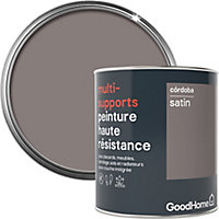 Peinture haute résistance multi-supports GoodHome marron Córdoba satin 0,75L