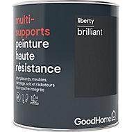 Peinture haute résistance multi-supports GoodHome noir Liberty brillant 0,75L