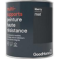 Peinture haute résistance multi-supports GoodHome noir Liberty mat 0,75L