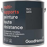 Peinture haute résistance multi-supports GoodHome noir Liberty satin 2L