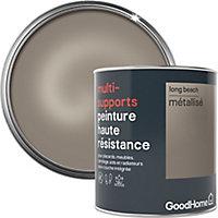 Peinture haute résistance multi-supports GoodHome or Long Beach métallisé 0,75L
