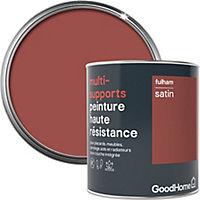 Peinture haute résistance multi-supports GoodHome rouge Fulham satin 0,75L