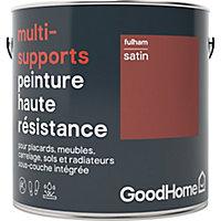 Peinture haute résistance multi-supports GoodHome rouge Fulham satin 2L