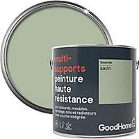 Peinture haute résistance multi-supports GoodHome vert Limerick satin 2L