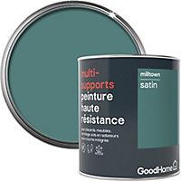 Peinture haute résistance multi-supports GoodHome vert Milltown satin 0,75L