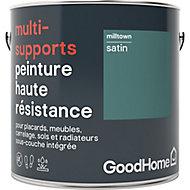 Peinture haute résistance multi-supports GoodHome vert Milltown satin 2L