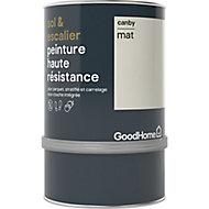 Peinture haute résistance sol et escalier GoodHome blanc Canby mat 0,75L