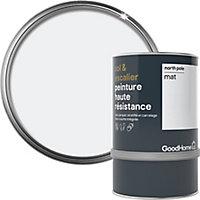 Peinture haute résistance sol et escalier GoodHome blanc North Pole mat 0,75L