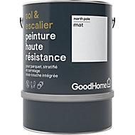 Peinture haute résistance sol et escalier GoodHome blanc North Pole mat 2L