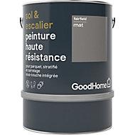 Peinture haute résistance sol et escalier GoodHome gris Fairfield mat 2L
