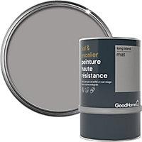 Peinture haute résistance sol et escalier GoodHome gris Long Island mat 0,75L