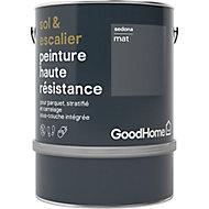 Peinture haute résistance sol et escalier GoodHome gris Sedona mat 2L