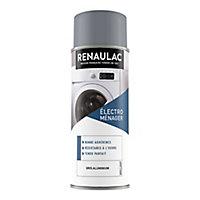Peinture électroménager intérieur Renaulac gris aluminium brillant 400ml
