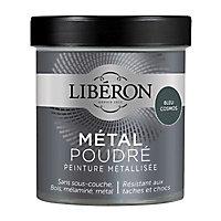 Peinture métallisée bois intérieur Liberon Métal poudré bleu cosmos pailleté 0,5L
