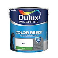 Peinture monocouche salle de bains Dulux Valentine Color Resist blanc satin 2,5L