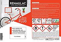 Peinture multi-supports en aérosol Renaulac fluo orange mat 400ml