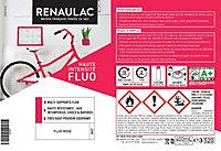 Peinture multi-supports en aérosol Renaulac fluo rose mat 400ml
