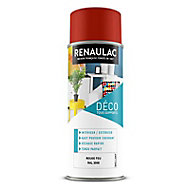 Peinture multi-supports en aérosol Renaulac rouge brillant 0,4L