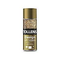 Peinture multi-supports en aérosol Tollens Design et vous or satin 400ml
