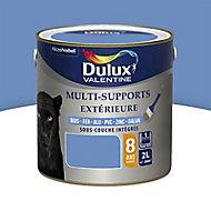 Peinture multi-supports extérieur Dulux Valentine bleu provence satin 2L