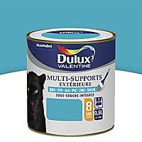 Peinture multi-supports extérieur Dulux Valentine bleu turquoise satin 0,5L