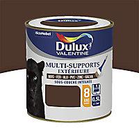 Peinture multi-supports extérieur Dulux Valentine brun Normandie satin 0,5L