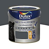 Peinture multi-supports extérieur Dulux Valentine gris sombre satin 2L