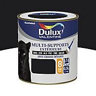 Peinture multi-supports extérieur Dulux Valentine noir satin 0,5L