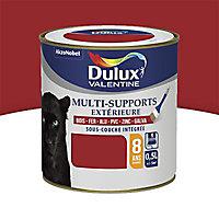 Peinture multi-supports extérieur Dulux Valentine rouge piment satin 0,5L