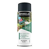 Peinture multi-supports extérieur Renaulac gris anthracite satin 400ml