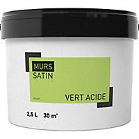 Peinture murale vert acide satin 2,5L