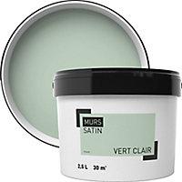 Peinture murale vert clair satin 2,5L